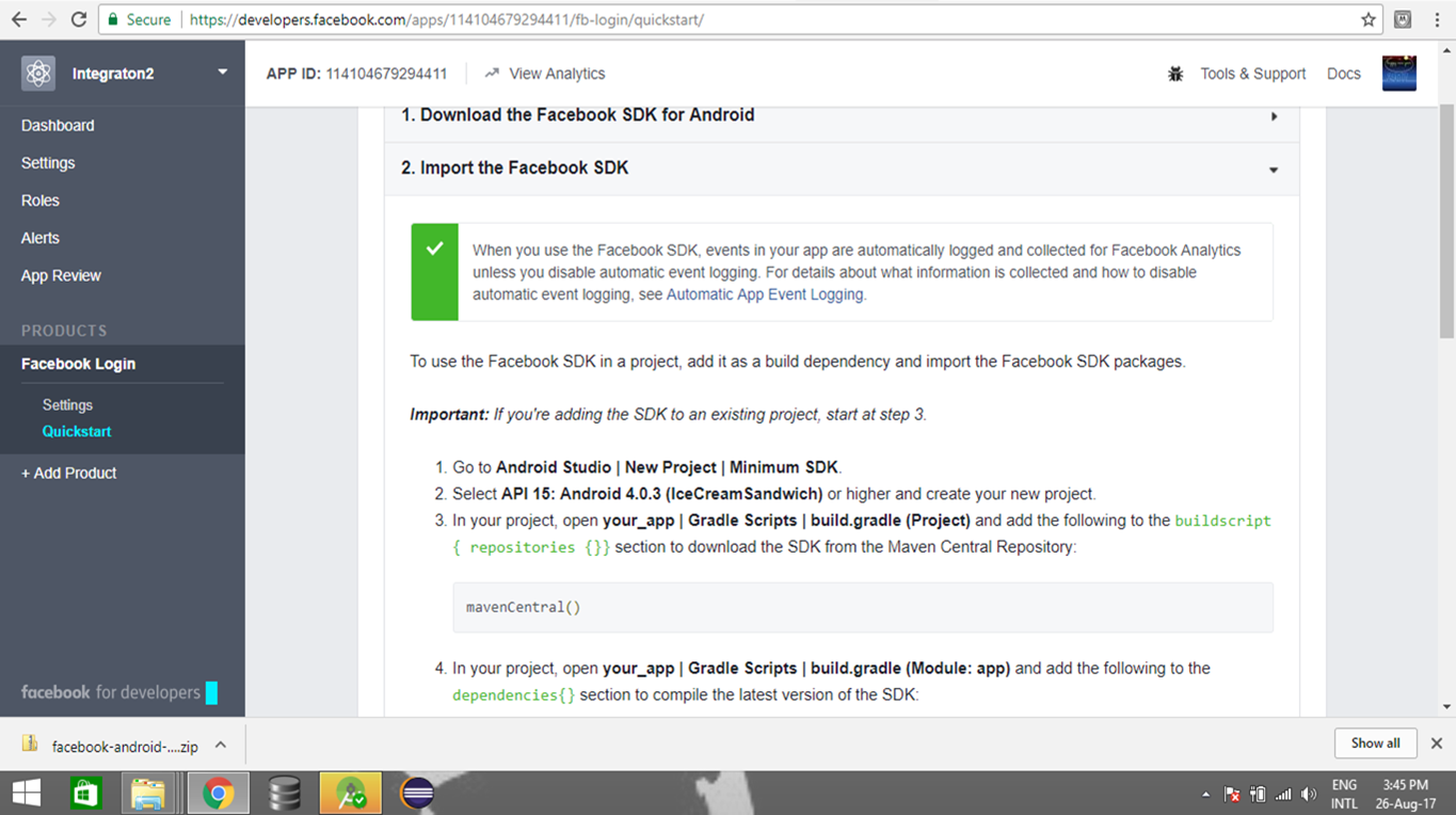 Android Facebook Integration