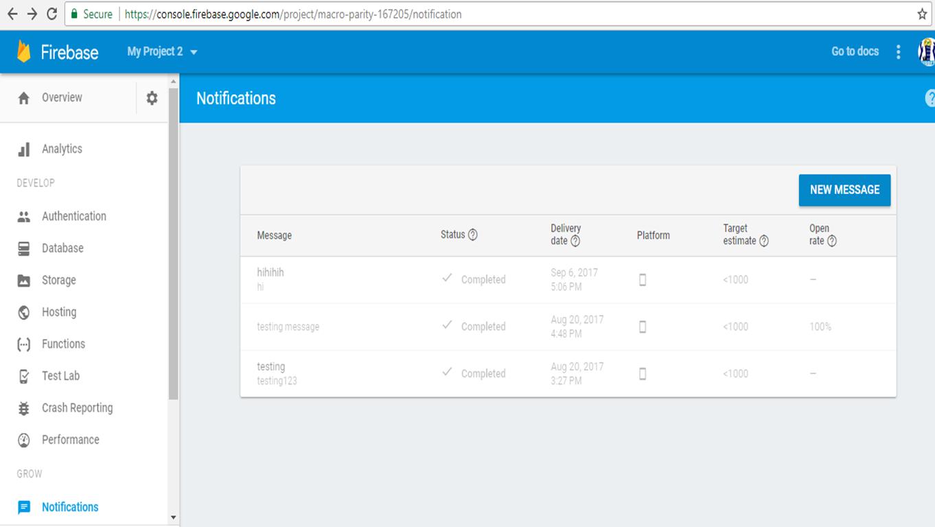 Android Firebase Push Notification Integration